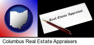 real estate appraisal documents and a pen in Columbus, OH