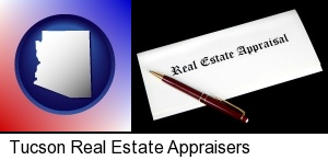 real estate appraisal documents and a pen in Tucson, AZ