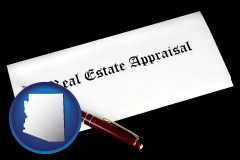 Arizona - real estate appraisal documents and a pen