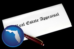 Florida - real estate appraisal documents and a pen