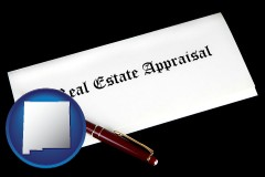 new-mexico real estate appraisal documents and a pen